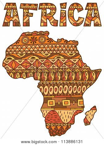 Africa Map Pattern