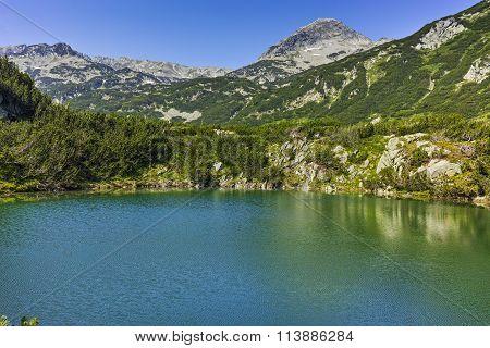 Amazing panorama of Muratov peak and Okoto lake, Pirin Mountain