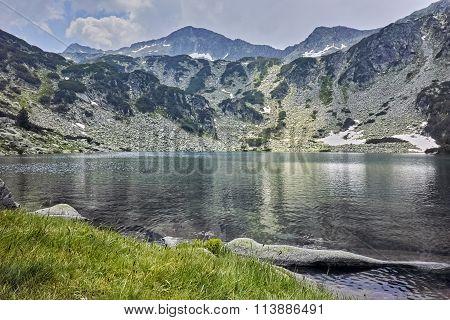 Amazing panorama of Banderishki Chukar Peak and The Fish Lake, Pirin Mountain
