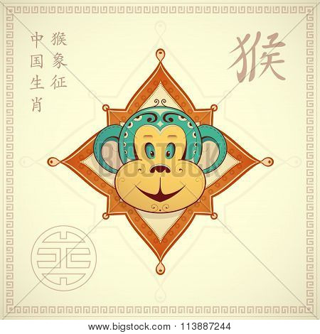 Monkey as symbol for year 2016