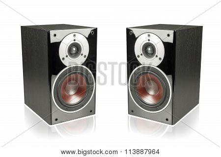 Black Speakers Isolated On White