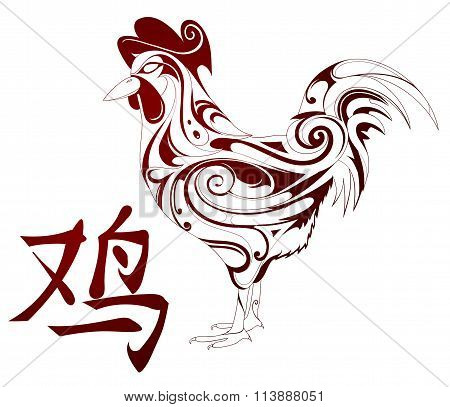 Rooster as symbol for Chinese zodiac