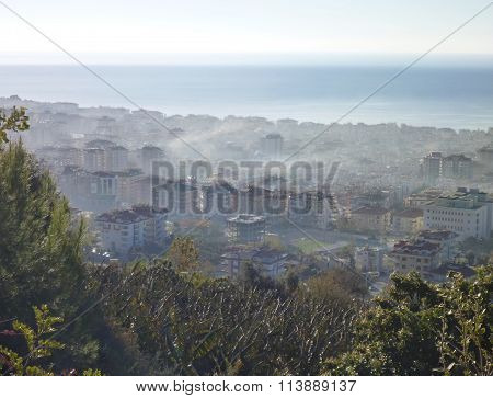 Thick Smog Above Alanya City