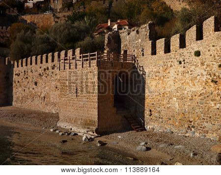 Alanya Coast With The Fortification