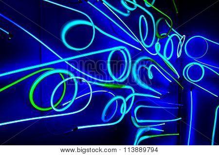 Abstract Illuminated Neon Sign