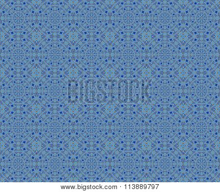 Seamless ornaments blue yellow