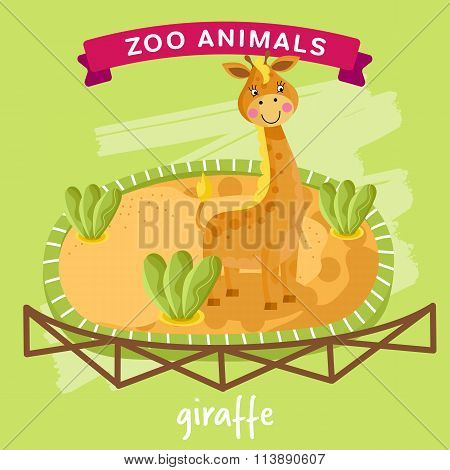 Vector Zoo Animal, Giraffe