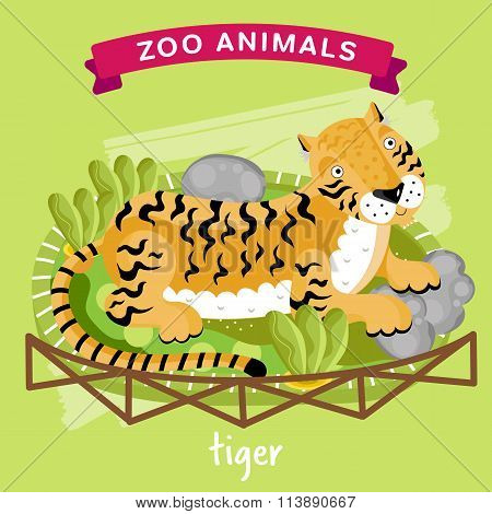 Vector Zoo Animal, Tiger