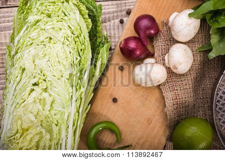 Chinese Cabbage With Vegetables