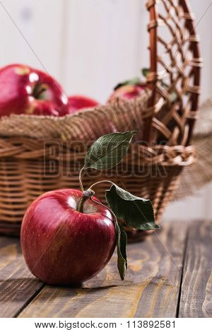 Appetizing Apple With Basket