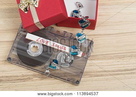 Audio Cassette Tape And Bracelet
