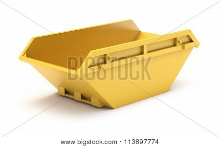 Yellow waste skip