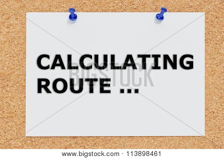 Calculating Route Concept