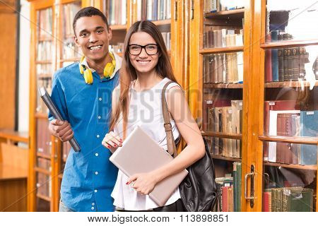 Students in library