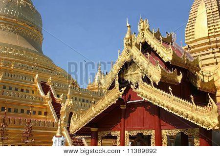 El Shwe Zi en Zedi Pagoda, Bagan