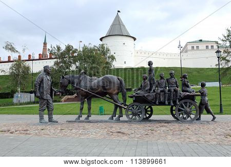Monument Benefactors Around Kazan Kremlin