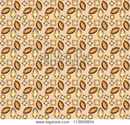 Illustration background with geometric patterns of precious ston