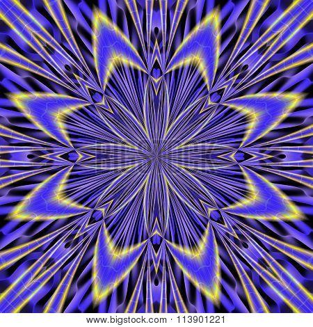 Blue Hypnotic Pattern