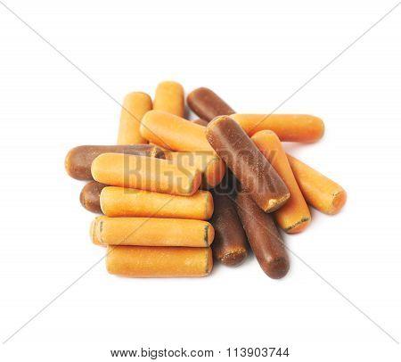 Pile of licorice stick candies