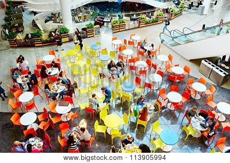 Food Court At Shopping Plaza