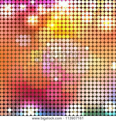 Round bright sparkling spots mosaic