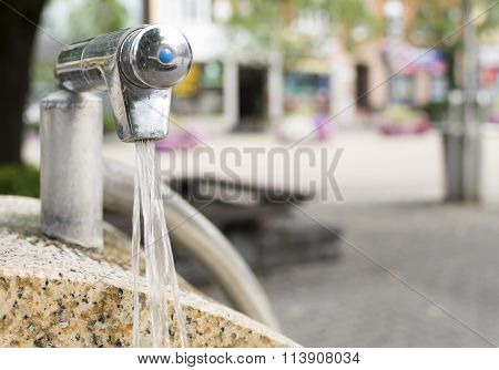 Drinking Water Fountain In A City