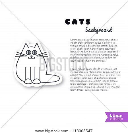 Happy fat cat background