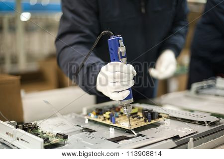 Technician at work