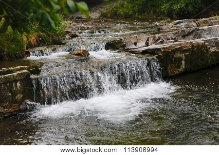 Small Waterfall Cascades In Slovakia Natural Beauty