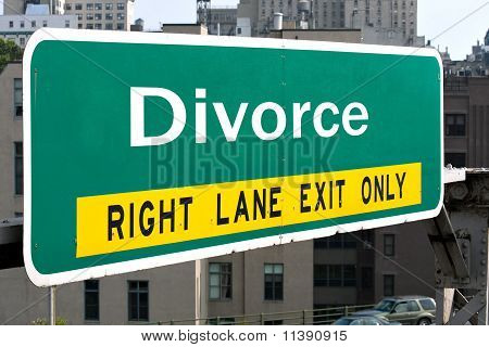 Divorce Highway Sign