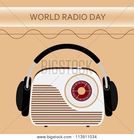 Vector illustration of a radio for World Radio Day