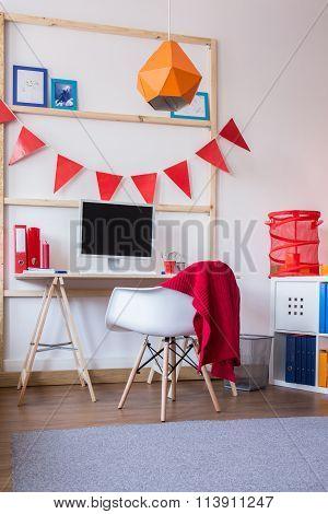 Functional Schoolchild Study Room
