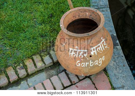 A Garbage Clay Pot
