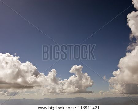 Mountain And Cloudy Sky
