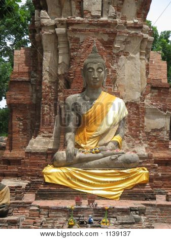 Buddha Meditating In Thailand