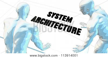 System Architecture Discussion and Business Meeting Concept Art
