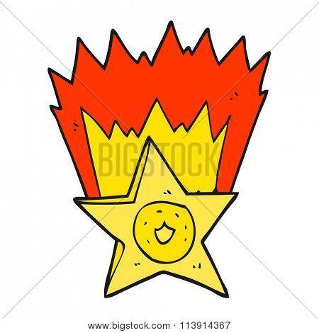 freehand drawn cartoon sheriff badge