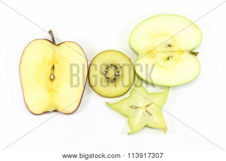 Apple Kiwi Star Fruit Slice