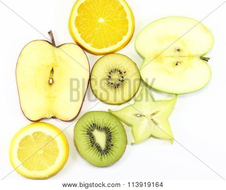 Apple Kiwi Star Fruit Orange Lemon Slice