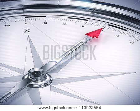 Navigation concept - futuristic compass - 3d render