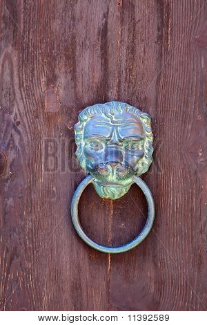 Vintage  Brass Metal Door