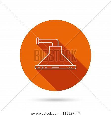 Kitchen hood icon. Kitchenware equipment sign.