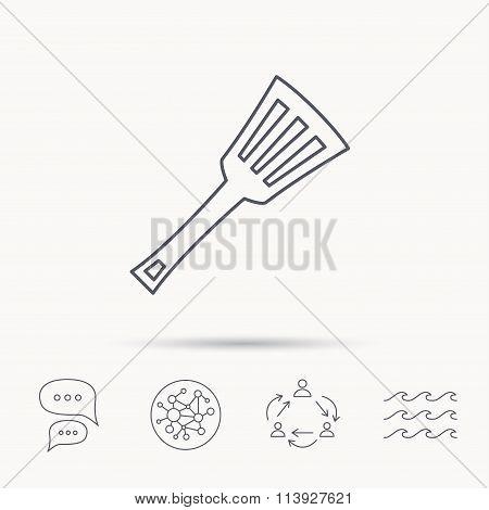 Kitchen utensil icon. Kitchenware spatula sign.