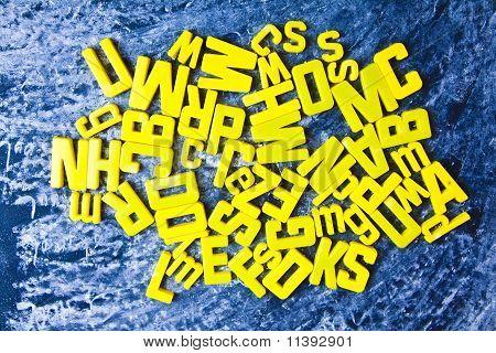 Alphabet & Blackboard