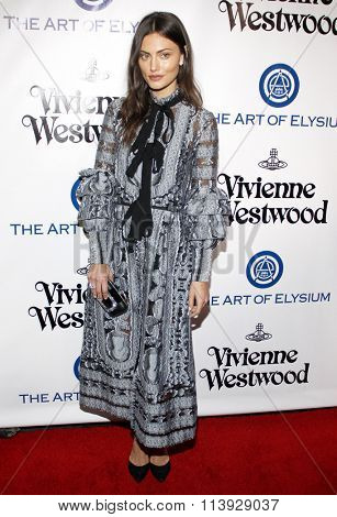 Phoebe Tonkin at the Art Of Elysium's 9th Annual Heaven Gala held at the 3LABS in Culver City, USA on January 9, 2016.