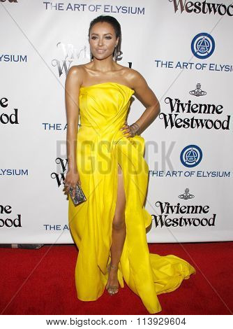 Kat Graham at the Art Of Elysium's 9th Annual Heaven Gala held at the 3LABS in Culver City, USA on January 9, 2016.
