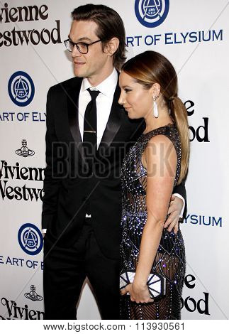 Ashley Tisdale and Christopher French at the Art Of Elysium's 9th Annual Heaven Gala held at the 3LABS in Culver City, USA on January 9, 2016.