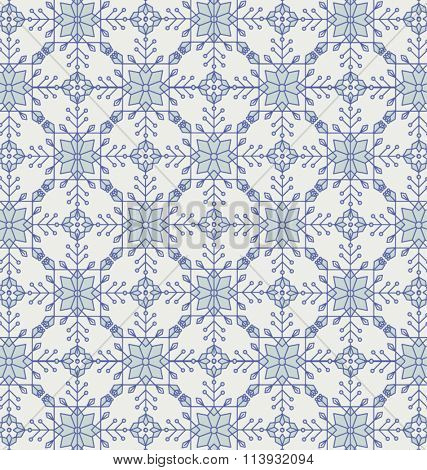 VICTORIAN TILE. Blue pattern. Vintage style geometric background.Vector illustration file. That square design has the ability to be repeated or tiled without visible seams.