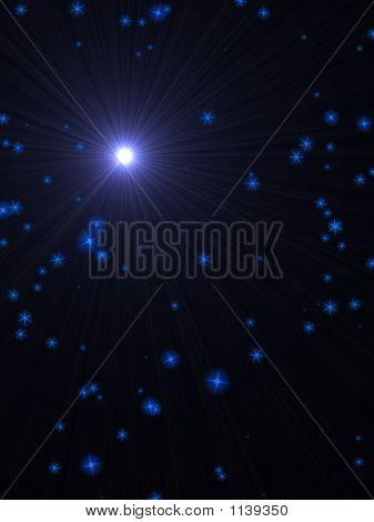 Super Nova And Stars