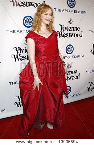 Christina Hendricks at the Art Of Elysium's 9th Annual Heaven Gala held at the 3LABS in Culver City, USA on January 9, 2016.